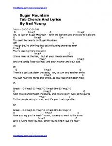 Sugar Mountain Tab Chords And Lyrics By Neil Young