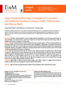 Sugar-Sweetened Beverage Consumption Is Associated with