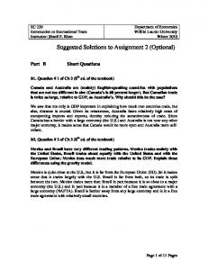 Suggested Solutions to Assignment 2 (Optional) - Wilfrid Laurier ...