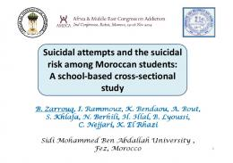 Suicidal attempts and the suicidal risk among Moroccan students: A ...