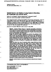Suicidal behavior and ethnicity of young females in ... - Semantic Scholar