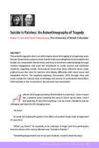 Suicide Is Painless: An Autoethnography of ... - Learning Landscapes