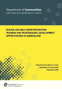 Suicide prevention manual - Open Doors Youth Service