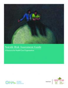 Suicide Risk Assessment Guide - Canadian Patient Safety Institute