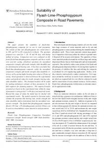 Suitability of Flyash-Lime-Phosphogypsum Composite in Road ...