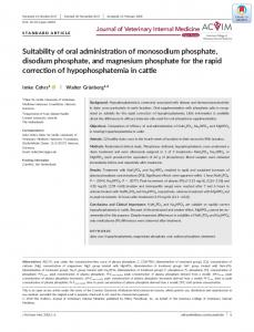 Suitability of oral administration of monosodium ... - Wiley Online Library