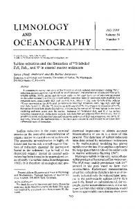 Sulfate reduction and the formation of ... - Wiley Online Library