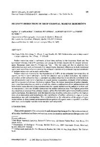 SULFATE REDUCTION IN DEEP COASTAL MARINE ... - Science Direct