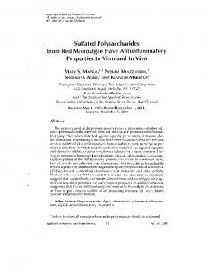 Sulfated Polysaccharides from Red Microalgae Have ...