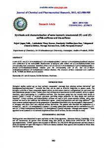 sulfide-sulfones and bis-sulfones - Journal of Chemical and ...