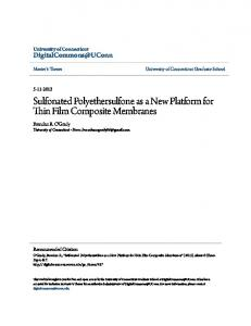 Sulfonated Polyethersulfone as a New Platform for
