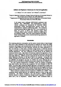 Sulfonic Acid Bisphenol A Membranes For Fuel Cell ...