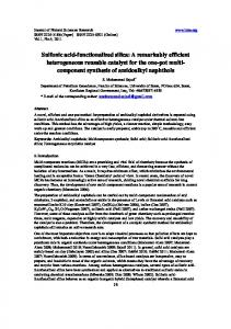 Sulfonic acid-functionalized silica