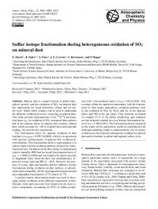 Sulfur isotope fractionation during ... - Atmos. Chem. Phys