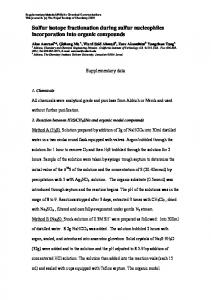 Sulfur isotope fractionation during sulfur nucleophiles incorporation ...