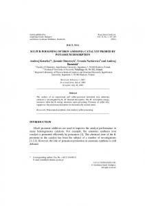 Sulfur Poisoning of Iron Ammonia Catalyst Probed by ... - Springer Link