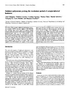 Sulphate polyanions prolong the incubation period of ... - CiteSeerX