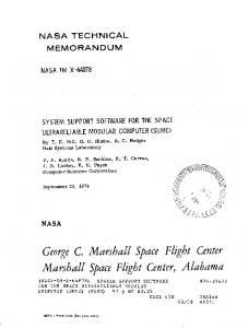 SUMC - NASA Technical Reports Server (NTRS)