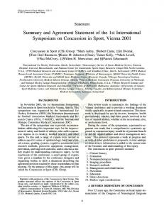 Summary and Agreement Statement of the 1st ... - ImPACT Test