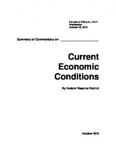 Summary of Commentary on Current Economic Conditions