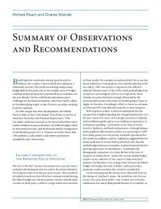 Summary of Observations and Recommendations - Federal Reserve ...