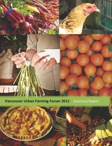 summary report of the Vancouver Urban Farming Forum - Vancouver ...
