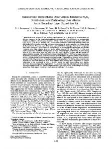 Summertime tropospheric observations related ... - Wiley Online Library