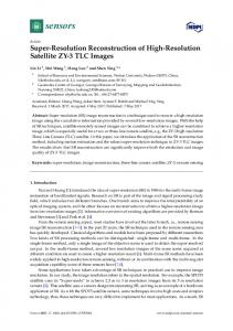 Super-Resolution Reconstruction of High-Resolution Satellite ... - MDPI