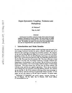 Super-Symmetric Coupling: Existence and Multiplicity