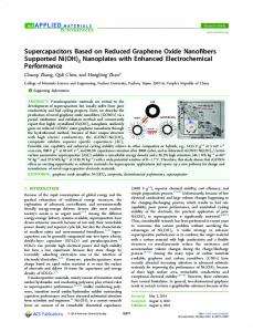 Supercapacitors Based on Reduced Graphene ... - ACS Publications