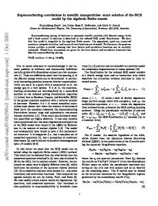 Superconducting correlations in metallic nanoparticles: exact solution ...