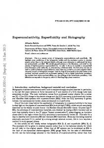 Superconductivity, Superfluidity and Holography