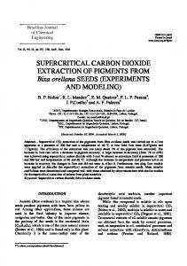 SUPERCRITICAL CARBON DIOXIDE EXTRACTION OF ... - SciELO