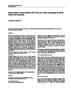 Supercritical carbon dioxide - Journal of Biochemical Technology