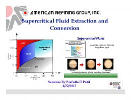 Supercritical Fluid Extraction and Conversion