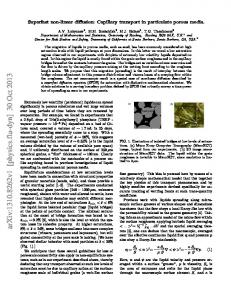 Superfast non-linear diffusion: Capillary transport in particulate porous ...
