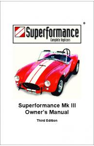 Superformance Mk III Owner's Manual - Second Strike