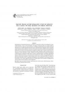 Superoxide dismutase and lipid hydroperoxides in blood and ... - SciELO