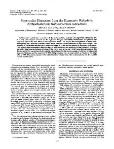 Superoxide Dismutase from the Extremely Halophilic Archaebacterium ...
