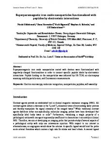 Superparamagnetic iron oxide nanoparticles functionalized - Arkivoc