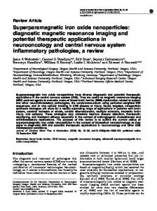 Superparamagnetic iron oxide nanoparticles - SAGE Journals