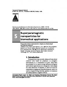 Superparamagnetic nanoparticles for biomedical
