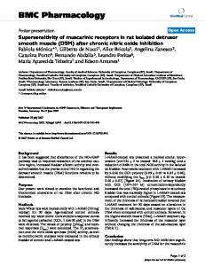 Supersensitivity of muscarinic receptors in rat isolated detrusor smooth ...