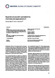 Superstructures with cyclodextrins: chemistry and ... - Beilstein-Institut