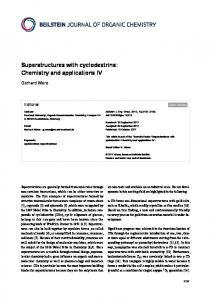 Superstructures with cyclodextrins: Chemistry and ... - Beilstein Journal