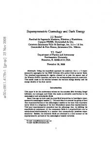 Supersymmetric Cosmology and Dark Energy