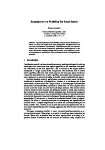 Supersymmetric Modeling for Local Search - Semantic Scholar