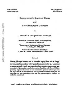 Supersymmetric quantum theory and non-commutative geometry
