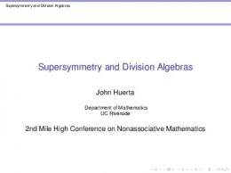 Supersymmetry and Division Algebras