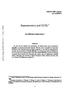 Supersymmetry and DLCQ